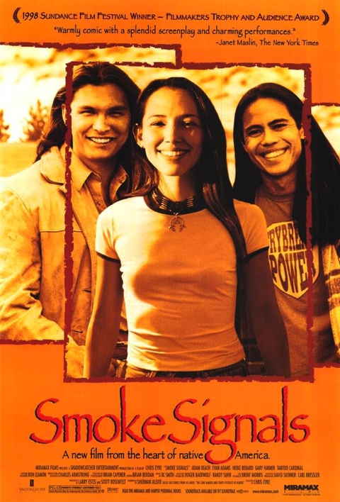 smoke signals analysis dramatica synopsis young n man thomas is a nerd in his reservation wearing oversize glasses and telling everyone stories no one wants to hear